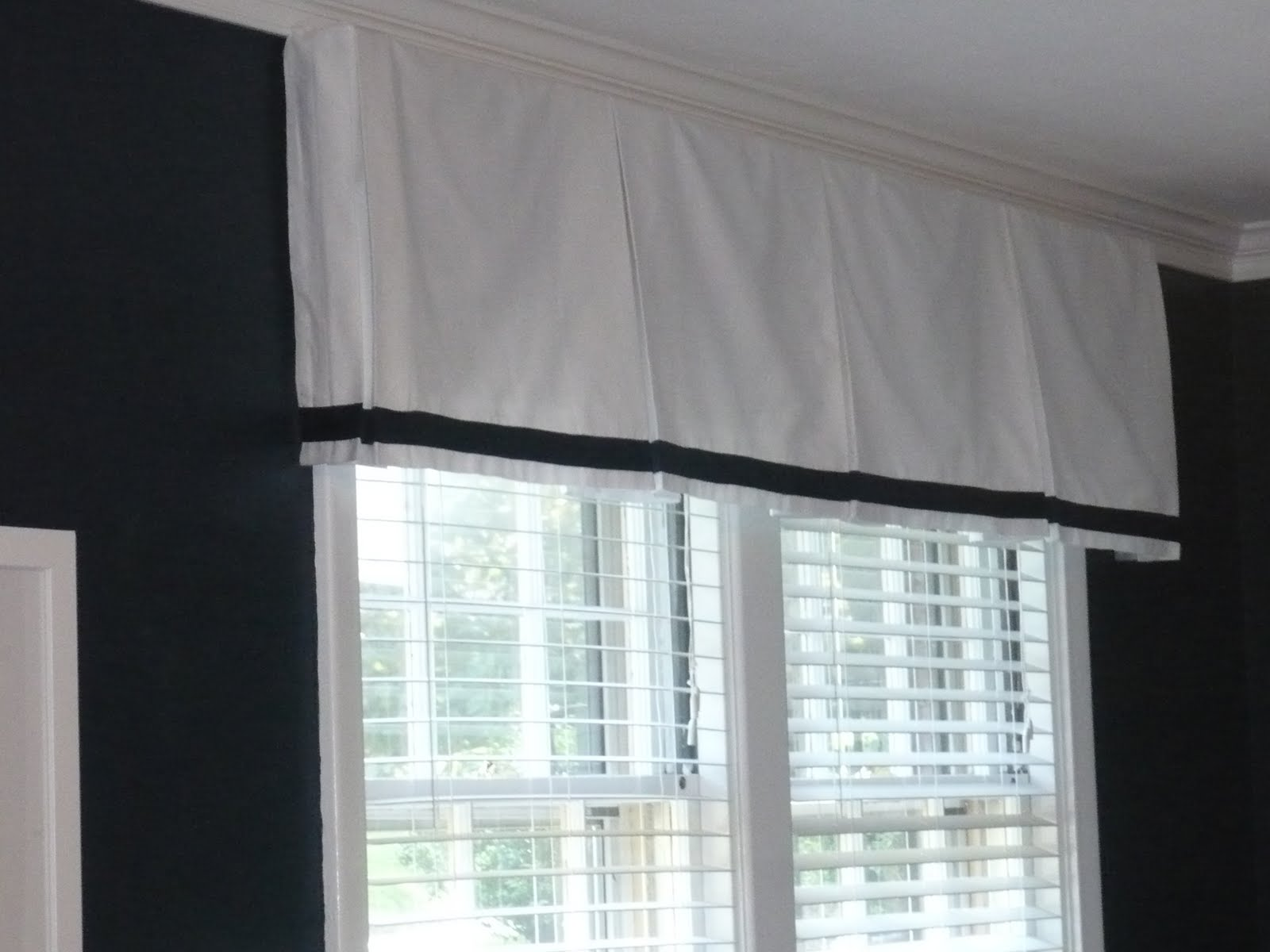 Westhampton DIY Easy Box Pleat Valances Convert a Curtain Panel