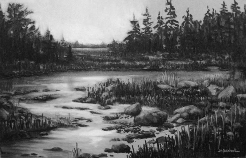 landscape charcoal sketches - photo #16