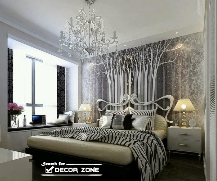 25 functional bedroom wall decor ideas and options beautiful wallpaper on wall design large size - Bedroom Wallpaper Designs Ideas