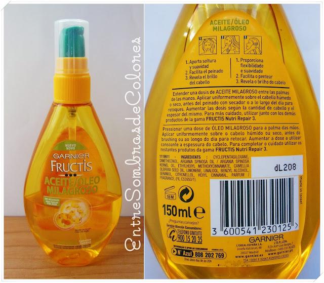 aceite milagroso Garnier
