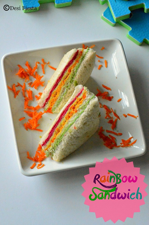 How to make Rainbow sandwich ??