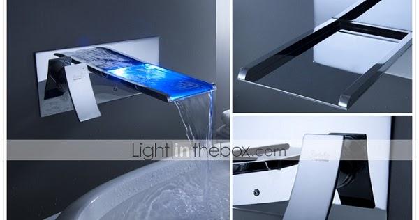 Led Waterfall Bathroom Sink Faucet Interesting Creative