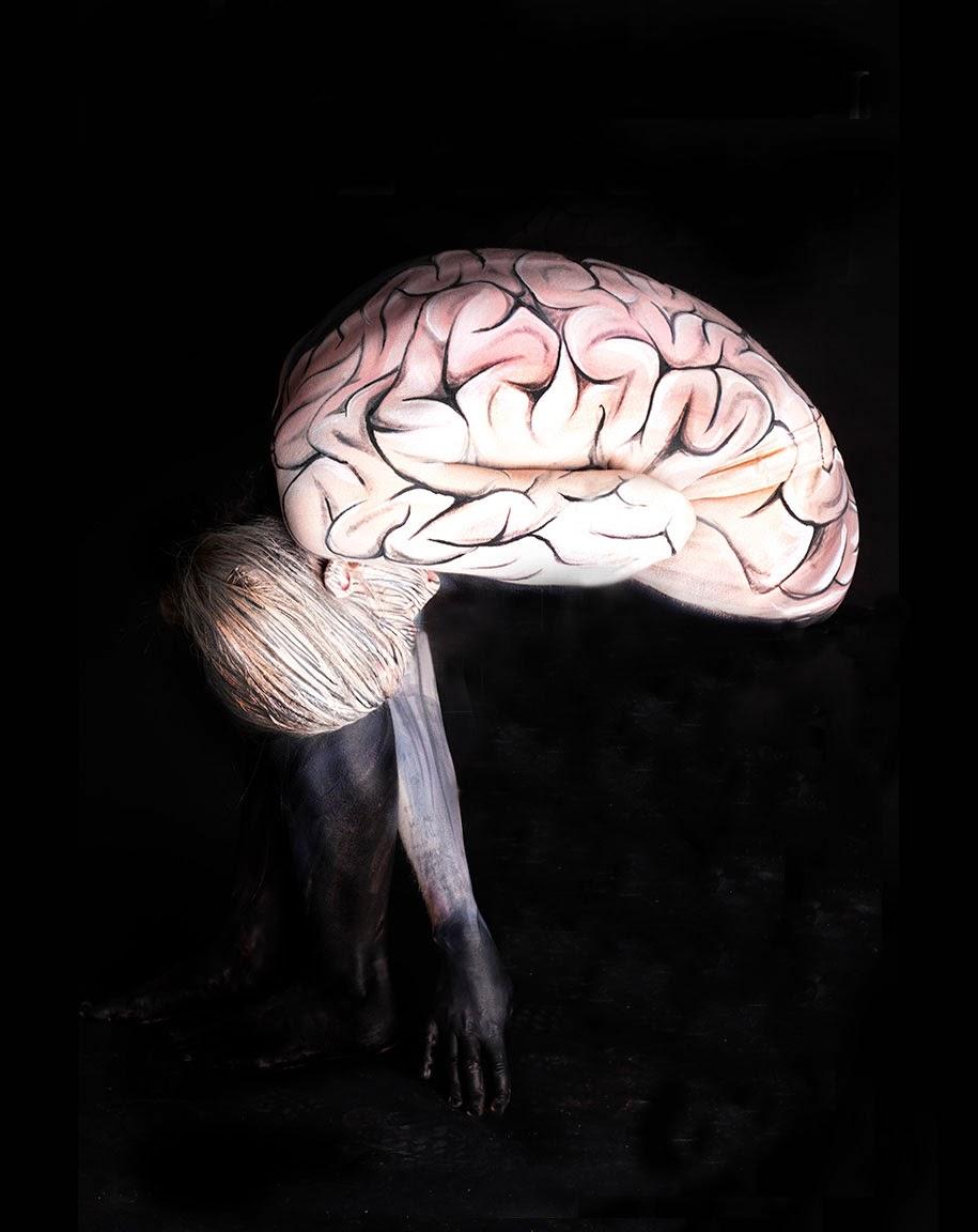 Lukisan Tubuh Manusia Merubah Orang Menjadi Hewan Dan Organ OTAK