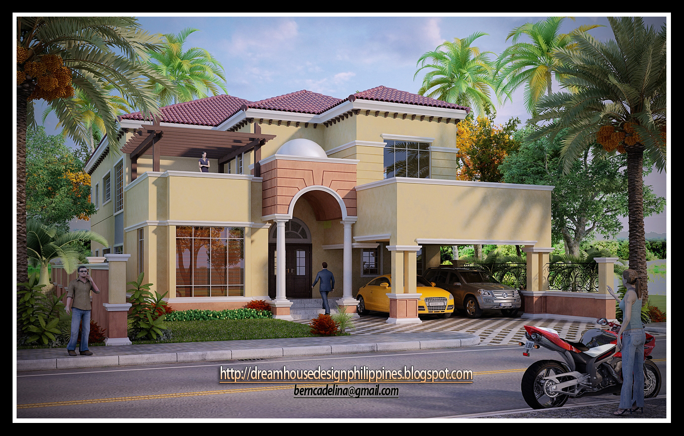 Philippine dream house design mediterranean house 2 Build my dream house