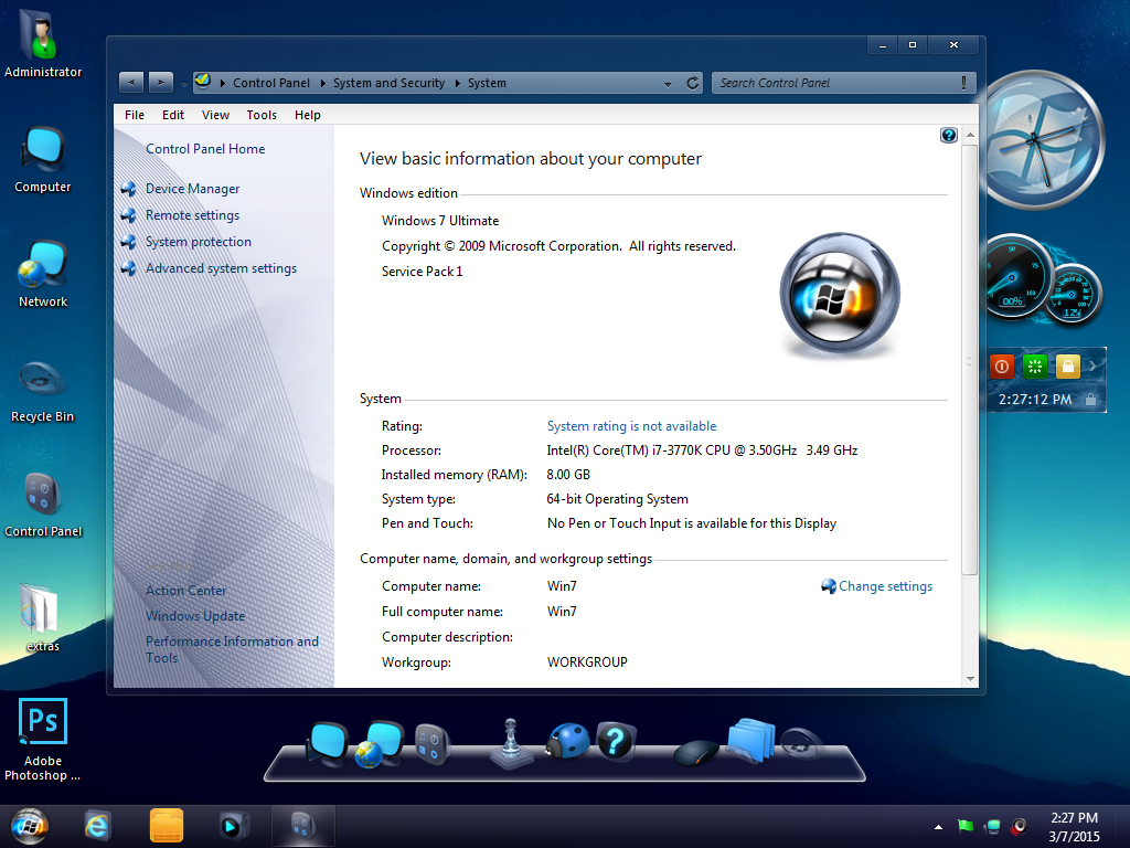 Windows 7 Indego (x64) 2015