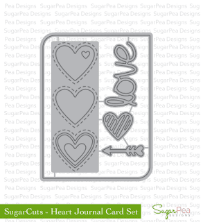 SugarCuts Heart Journal Card Set