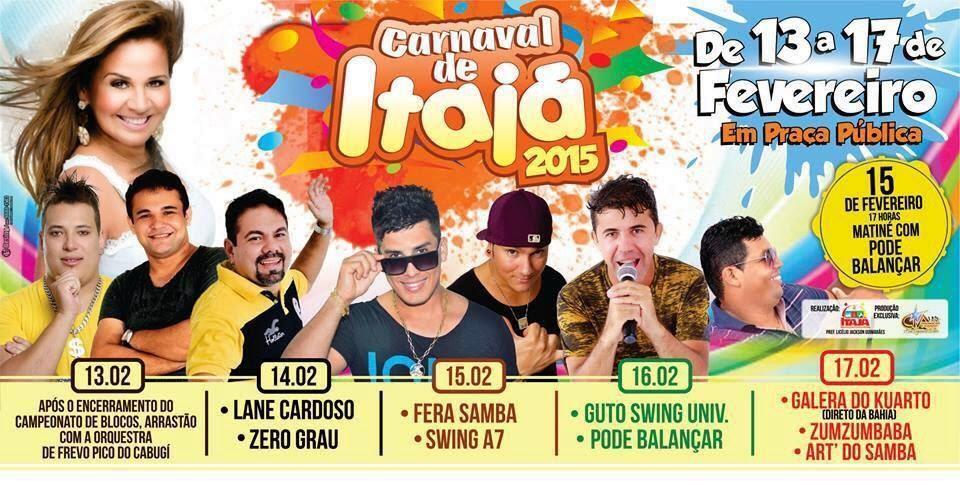 CARNAVAL DE ITAJÁ 2015