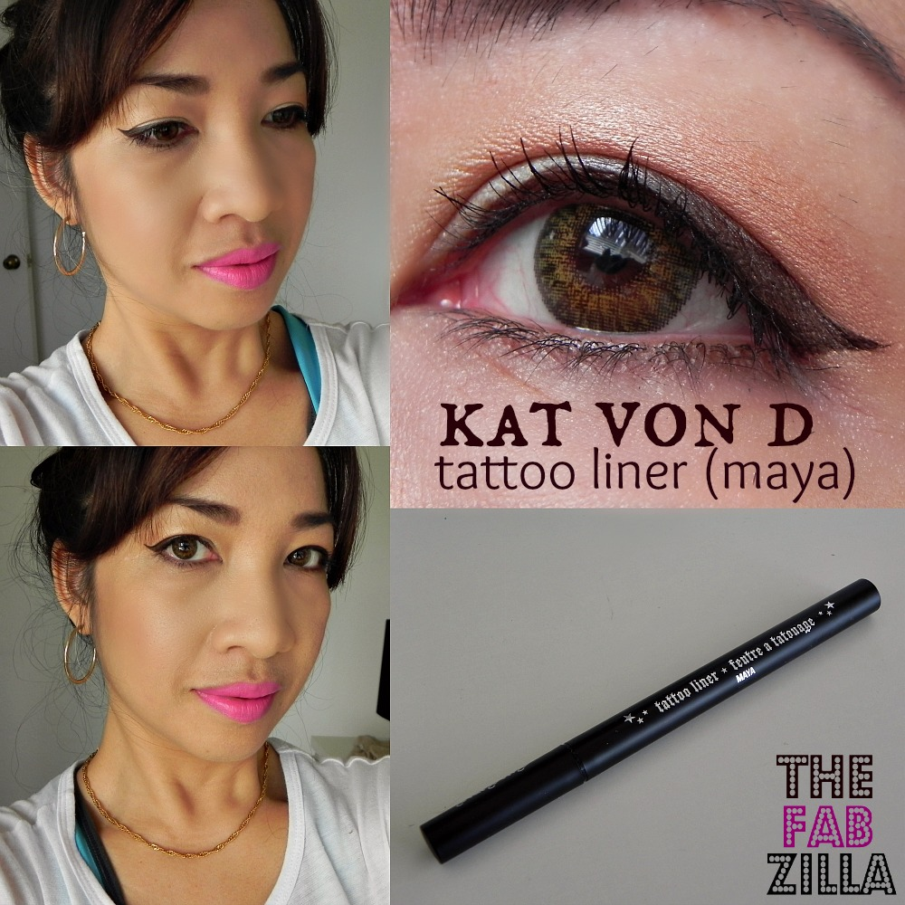 Kat Von D Tattoo Liner Makes Cat Eyes Easy Peasy (Review) - thefabzilla