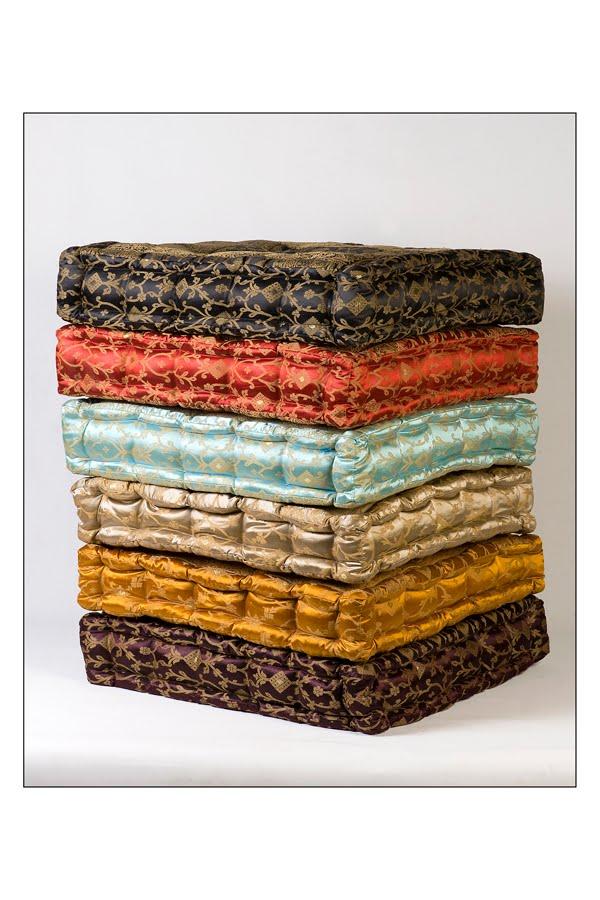 Monsoon Craft.com: Sari Box Floor Pillow