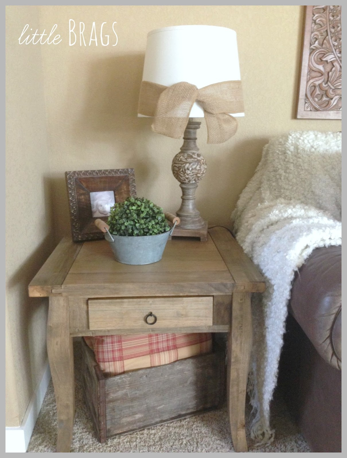 Little brags adding burlap to my lamp shades some more for My dining room 9 course