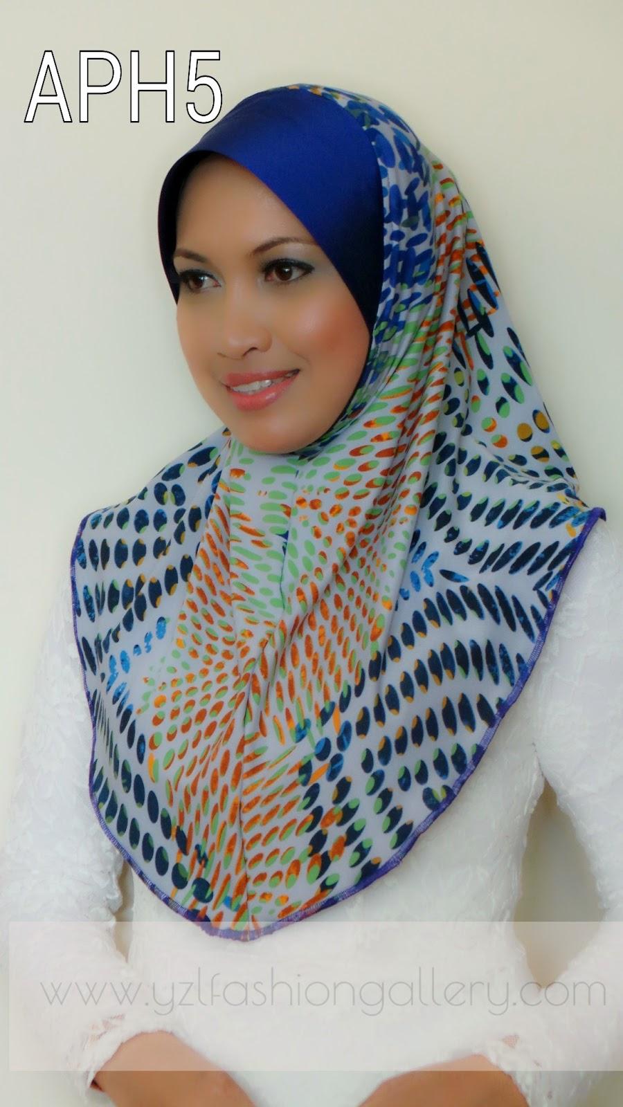 Yzl Fashion Gallery Tudung Lycra Printed Awning Thai Silk