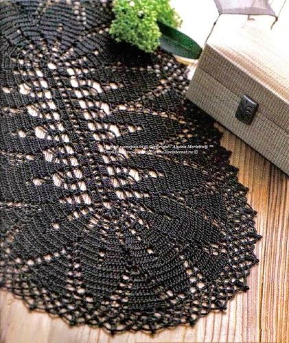 Carpeta japonesa realizada al crochet - con esquema