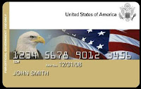 Photo of sample of a generic US GSA charge card