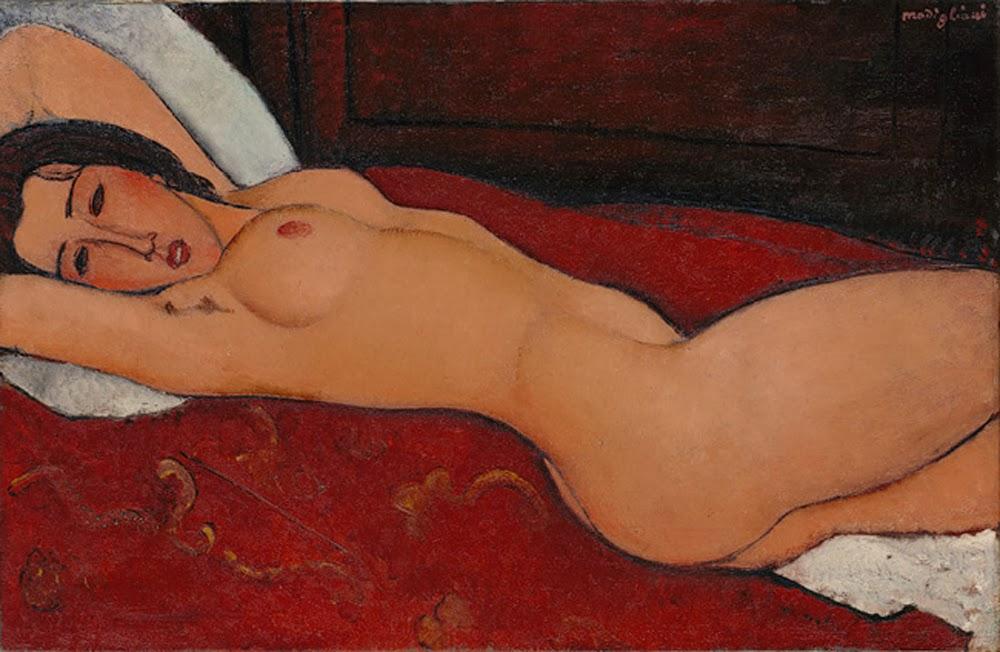 Nu couché, 1917