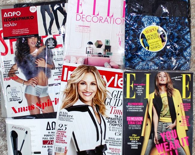 Greek magazines: Elle, Shape, InStyle