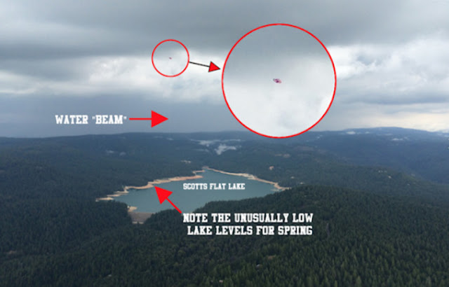 UFO Caught Absorbing Water Out of California Lake