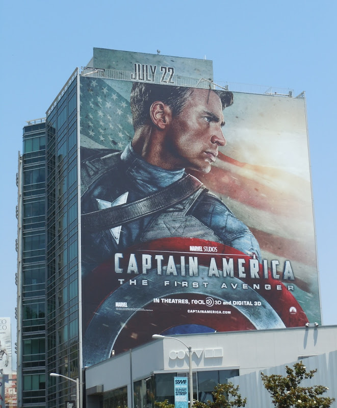 Giant Captain America film billboard