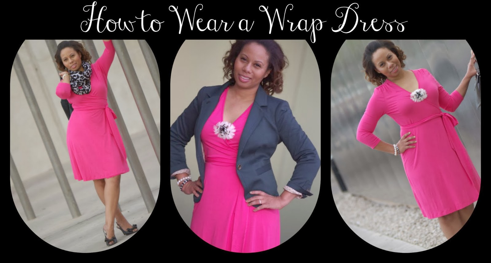 Curvy, Petite Outfit Ideas | Professional and Casual-Chic Fashion and Style Inspiration | 3 Ways to Style a Wrap Dress