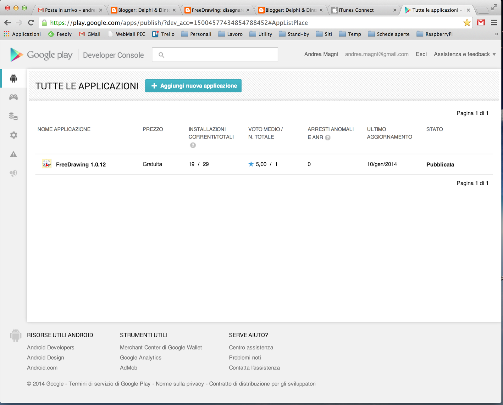 Delphi dintorni blog gennaio 2014 - Google developer console ...
