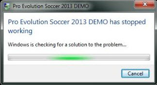 حل مشكلة PES 2013 has stopped working