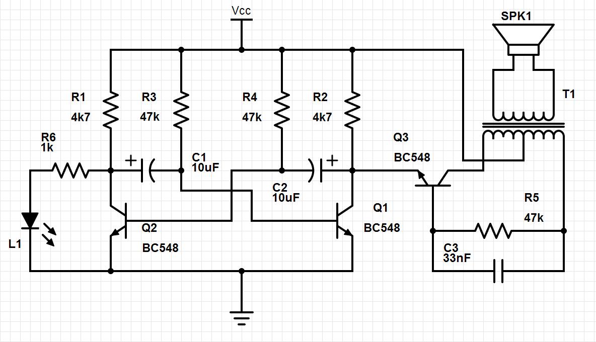 sirene com tr u00eas transistores