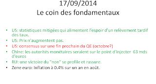news économiques actualités boursières 17/09/2014