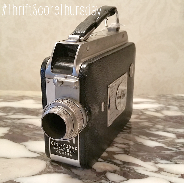 #thriftscorethursday Week 49 Cine-Kodak Magazine 8 Camera | www.blackandwhiteobsession.com