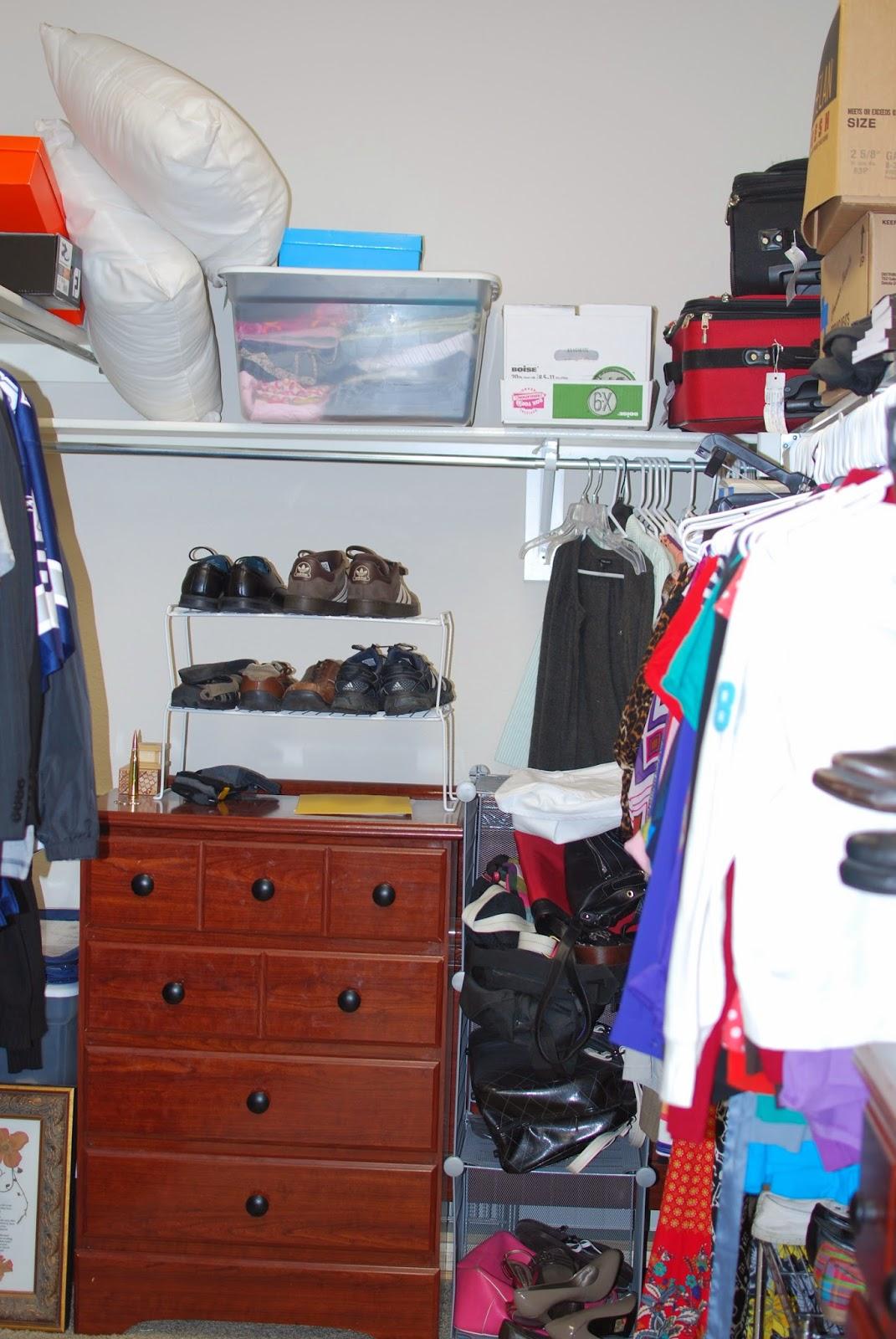 messy closet