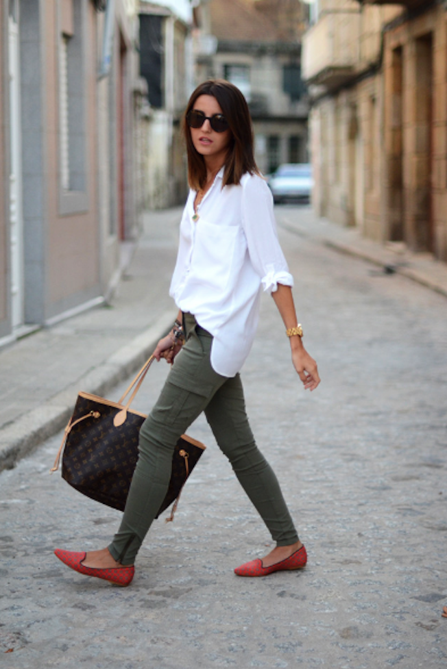 Shopaholic fashion blog outfit of the day - verde militar
