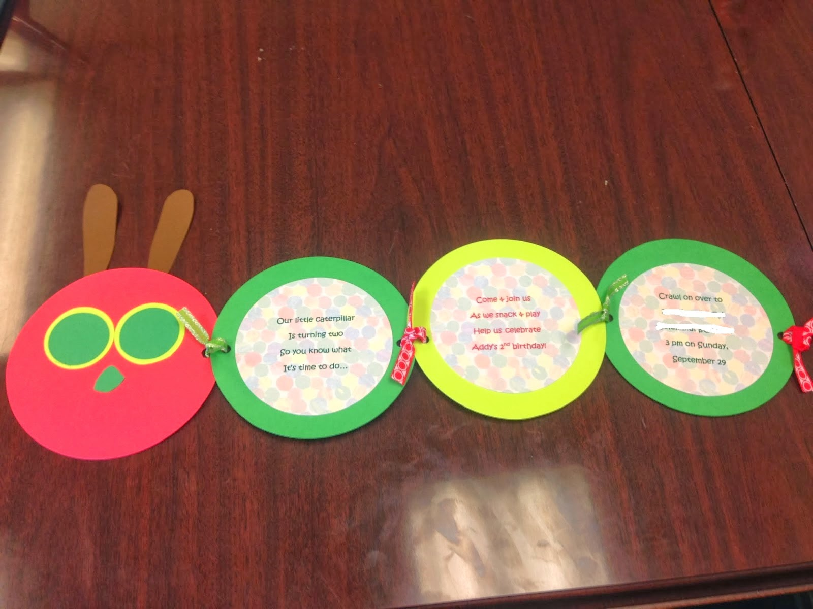 Manic Mama Miles: Very Hungry Caterpillar Party Invitations