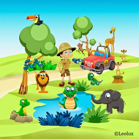 safari niño, dibujos infantiles, diseño,