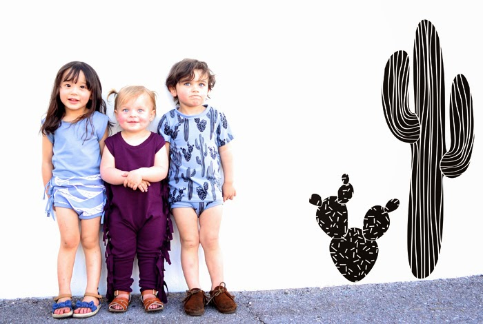 Waves, cactuses and fringes in Little Cocoa Bean SS14
