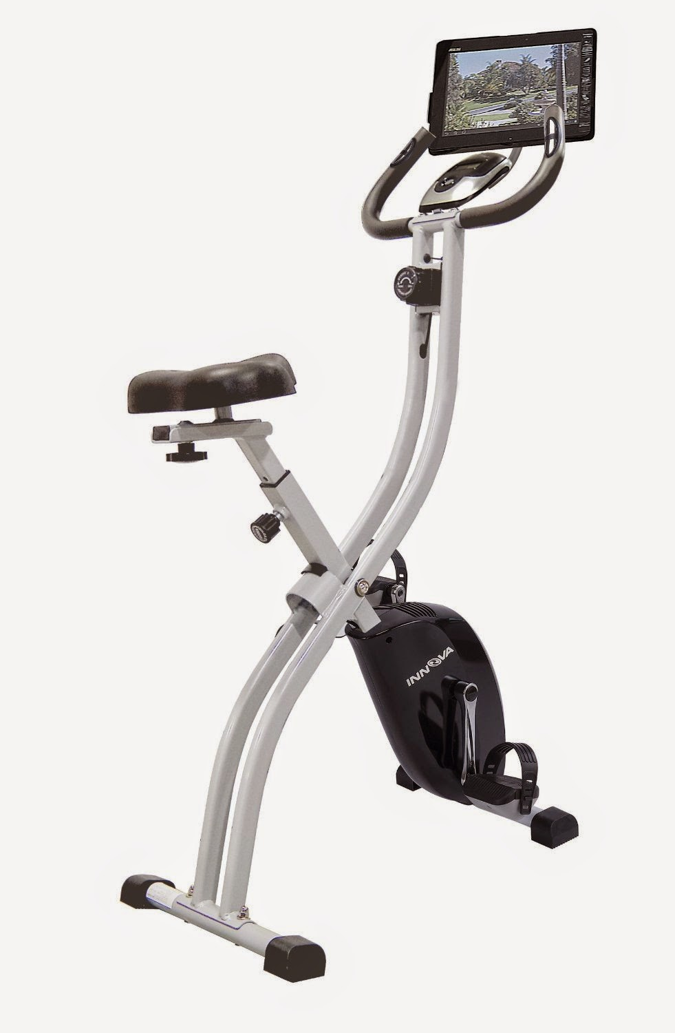 innova fitness xb350 folding upright exercise bike review 8 levels of magnetic resistance