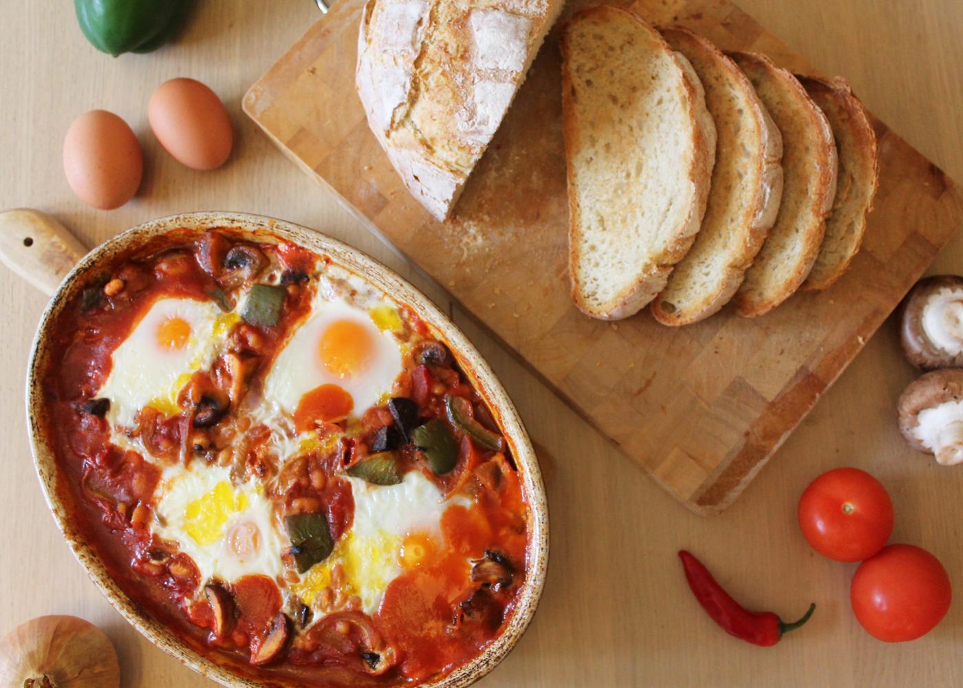 Sweet Monday, Baked Eggs, Baked Eggs Recipe