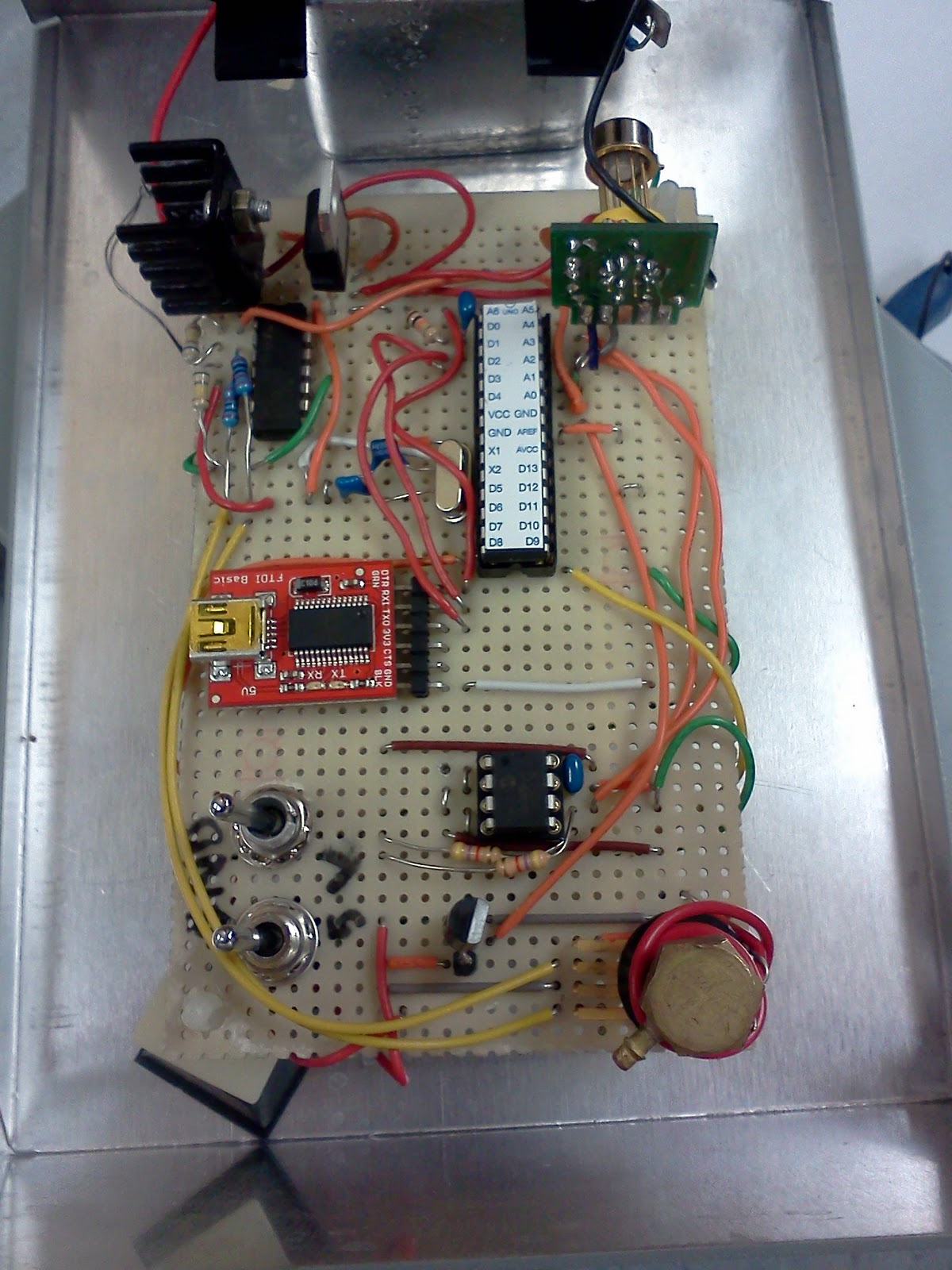 Tru Physics 448 Weather Balloon January 2012 5 Volt Voltage Regulator Circuit Below Is The Trackuino This Designed To Get Gps Signal And Send It Over Aprs Network Can Also Transmit Temperature Other Data Aswell