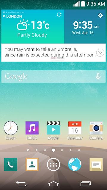 LG G3 screenshot