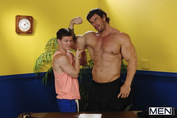 Beefy Zeb Atlas Fucks Much Smaller Guy Tyler Sweet In The Video Called