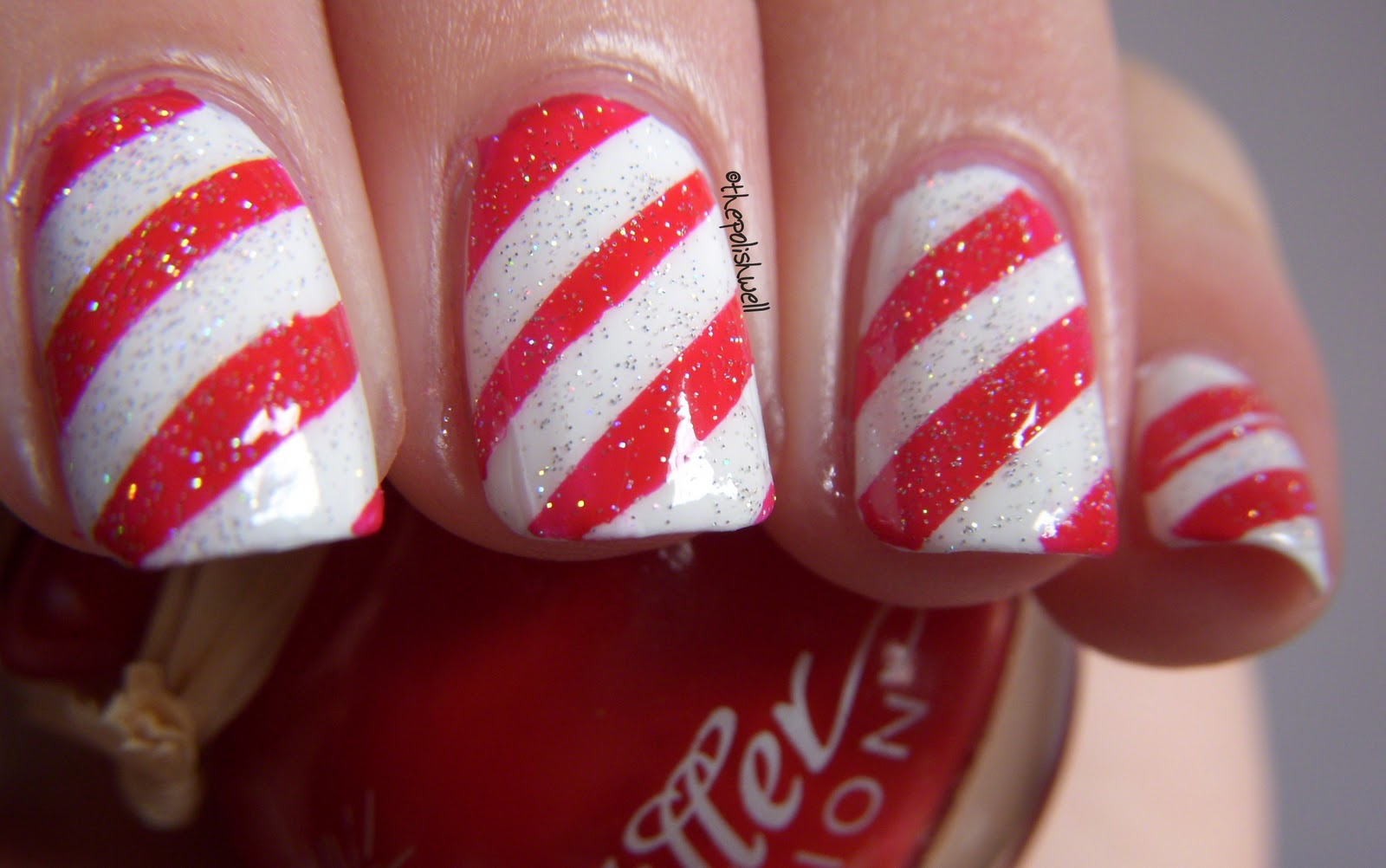 the polish well 12 days of christmas day 8 candy cane