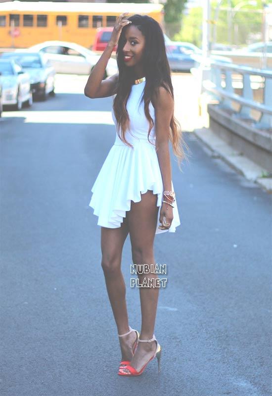 Dark-skin-beautiful-girl-mini-dress-exotic-illustrious-long-legs-curvy-figure-petite