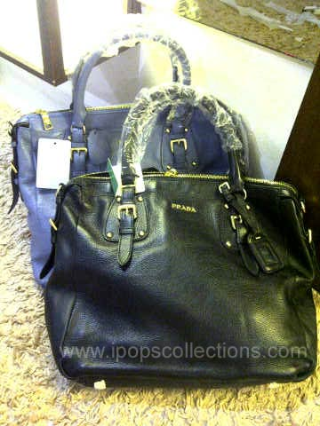 Kode: Tas Branded Super Premium Prada Boston Hitam Leather