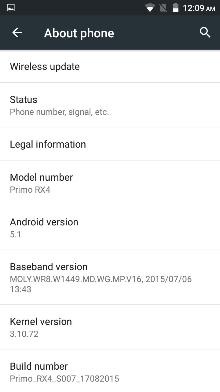 Primo RX4 OS