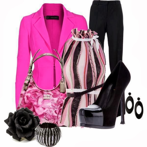 Coat, High heel Shoes, Bag...