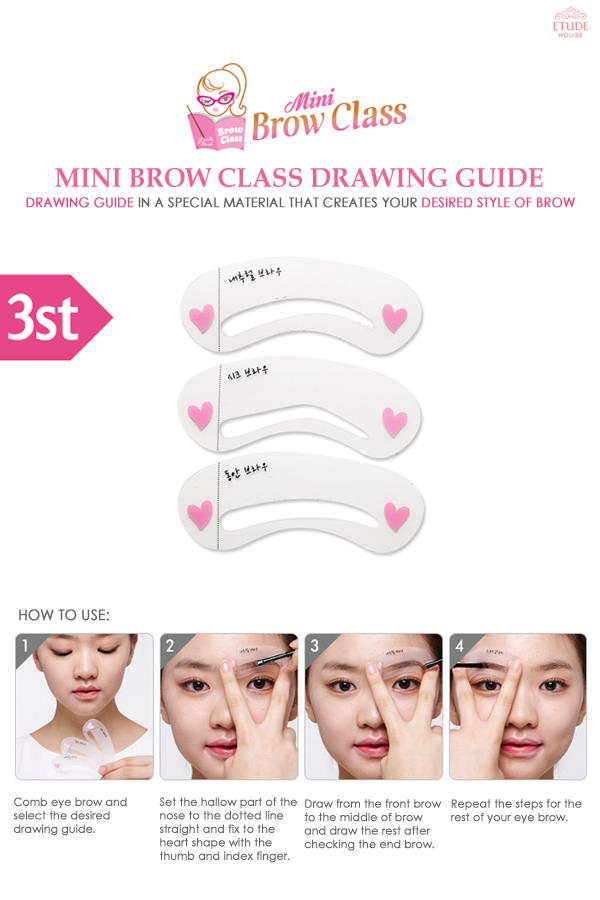 Littellebratontheloose Etude House Mini Brow Class Drawing Guide