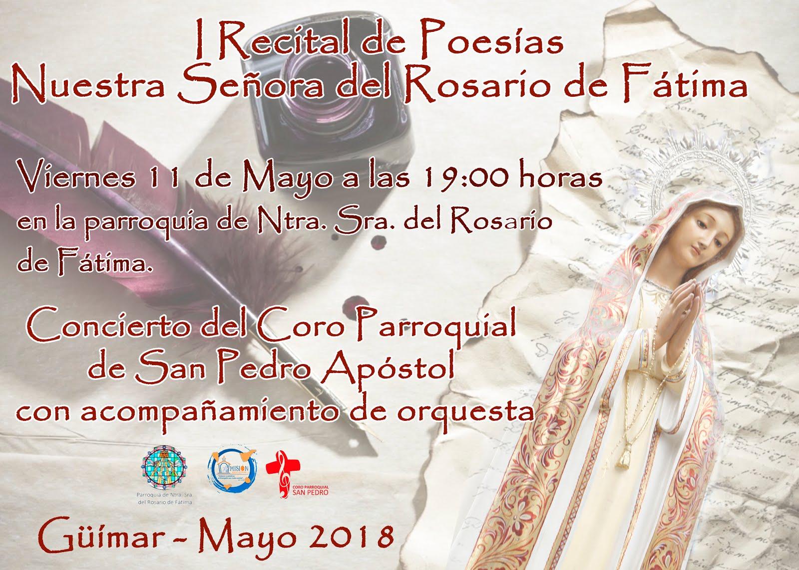 I Recital de Poesía Ntra. Sra. del Rosario de Fátima. Inscríbete en el 678312980