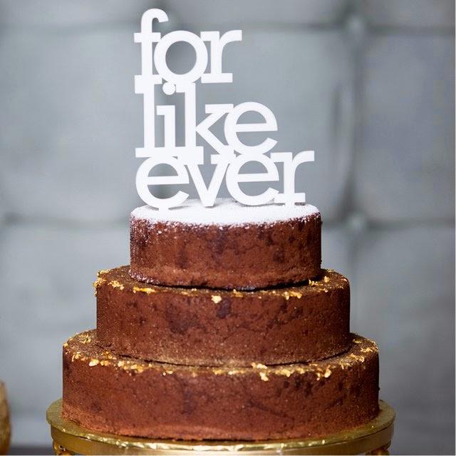 For Like Ever Wedding Topper