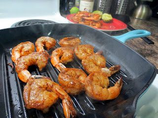 Grilled Shrimp on pan