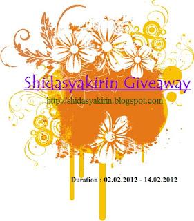Shidasyakirin Giveaway