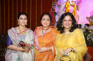 Kajol Devgan spotted at Durga Puja Pendal in Mumbai