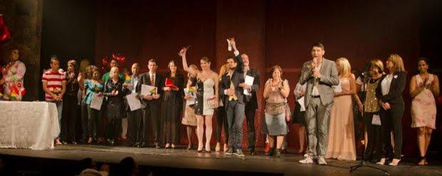 As premiadas e os premiados (Foto: Aline Macedo)