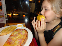 Ham and Pineapple Pizza with Garlic Bread and Corn on The Cob - Beefeater Restaurant